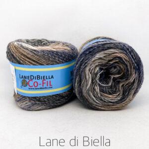 gomitolo misto lana acrilico 350mt beige blu grigio