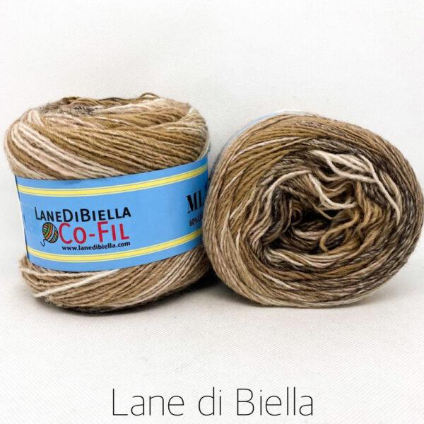 gomitolo misto lana acrilico 350mt beige marrone