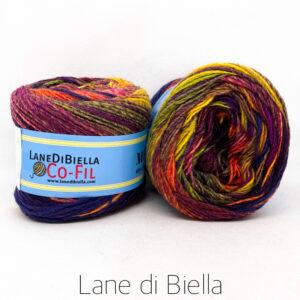 gomitolo misto lana acrilico 350mt giallo rosso viola fuxia