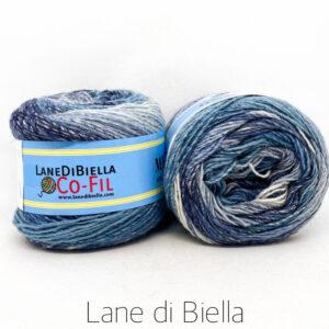 gomitolo misto lana acrilico 350mt blu azzurro bianco