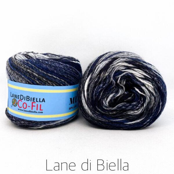 gomitolo misto lana acrilico 350mt blu bianco