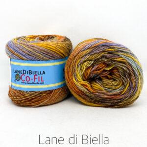 gomitolo misto lana acrilico 350mt arancio lilla giallo