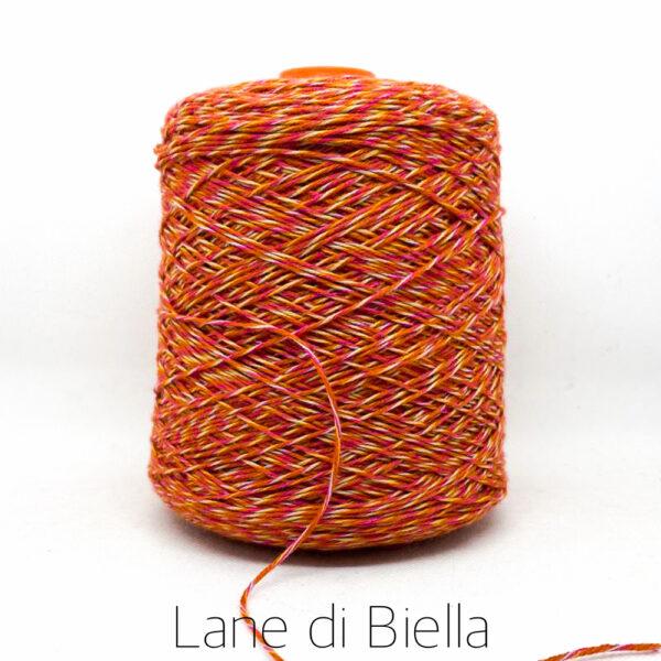 rocca lana acrilico arancio rosso bianco