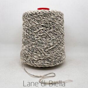 rocca cotone polyamide fiammato bianco nero