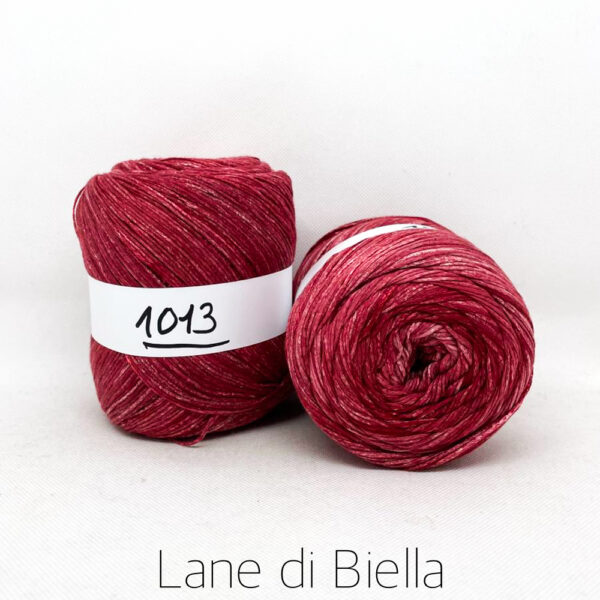 gomitolo cotone viscosa bianco rosso rosa