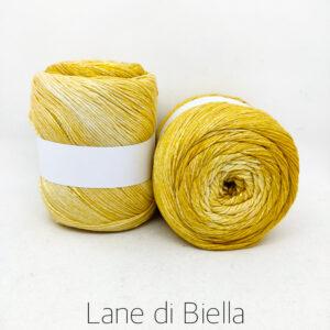 gomitolo cotone viscosa bianco giallo