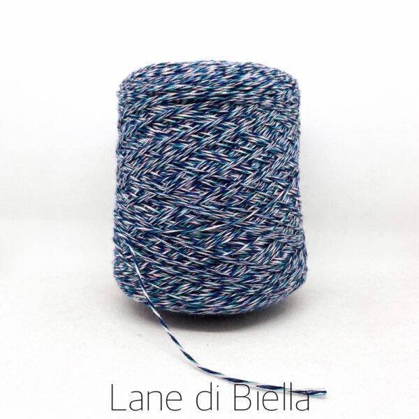 rocca misto lana acrilico blu bianco azzurro