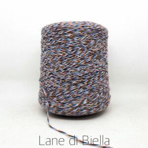 rocca misto lana acrilico blu bianco arancio