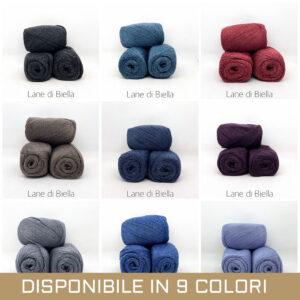 gomitolo misto lana viscosa blu rossa azzurro marrone grigio