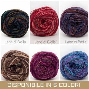 gomitolo misto lana acrilico azzurro viola blu rosso rosa verde beige