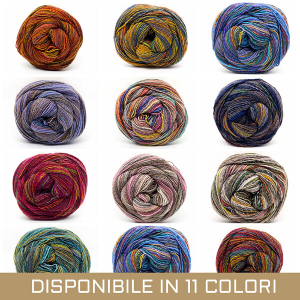 gomitolo misto lana acrilico rosa beige marrone blu celeste azzurro rosso fuxia verde