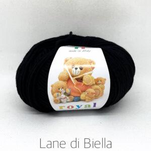 gomitolo royal pura lana merino nero