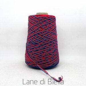 rocca campionatura misto cotone polyamide lurex blu rosso