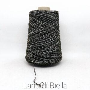 rocca campionatura misto cotone polyamide lurex nero bianco