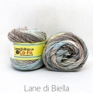 gomitolo misto lana acrilico azzurro beige tortora
