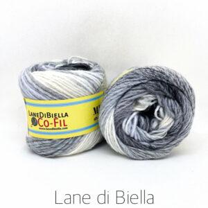 gomitolo misto lana acrilico azzurro grigio bianco