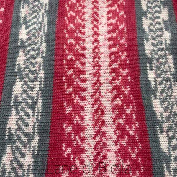 gomitolo misto lana acrilico rosso bianco grigio telo