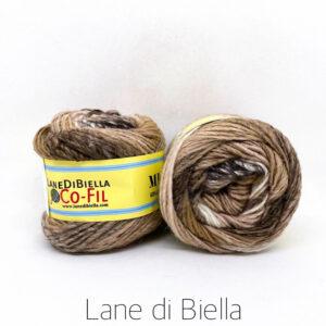 gomitolo misto lana acrilico beige marrone bianco