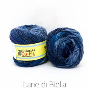 gomitolo misto lana acrilico blu azzurro