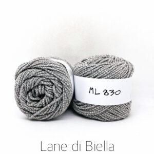 gomitolo misto lana acrilico grigio bianco