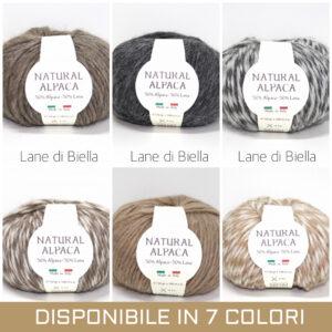 gomitolo natural misto alpaca lana grigio medio marrone bianco antracite nocciola