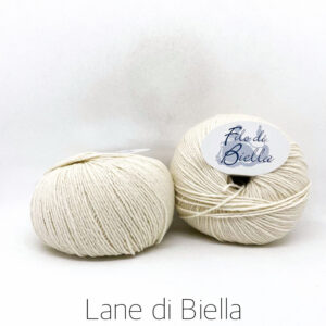gomitolo pura lana merino naturale bianco panna