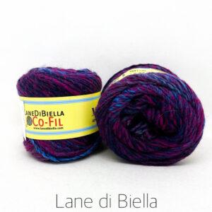 gomitolo misto lana acrilico blu viola